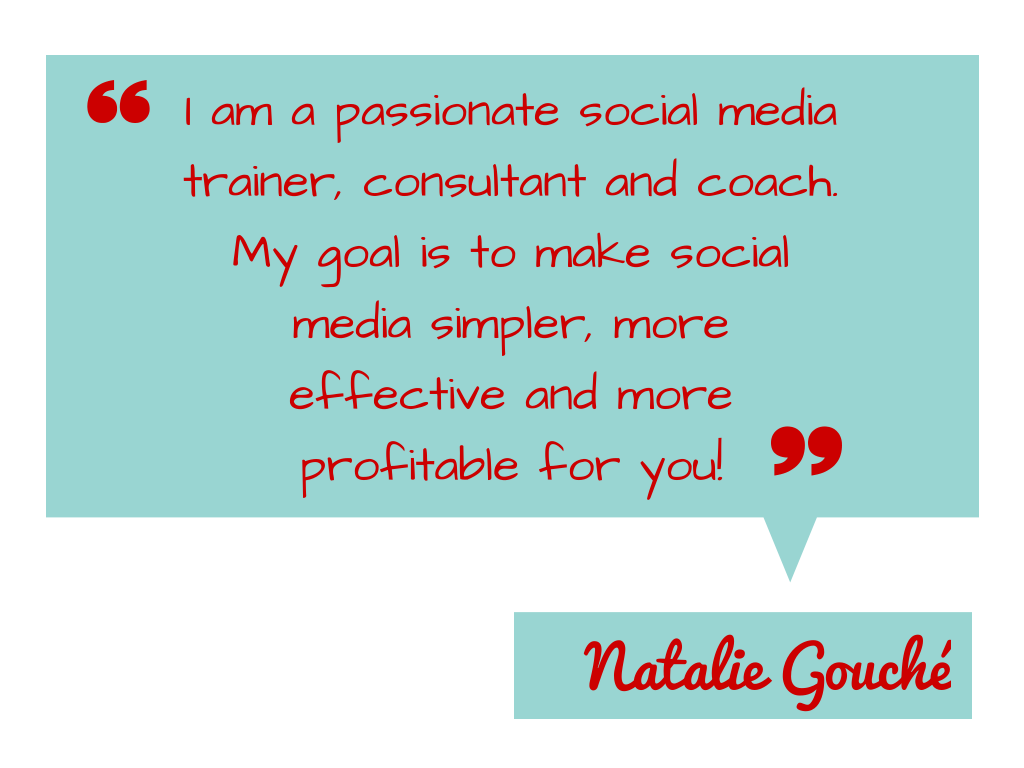 natalie gouche social media trainer