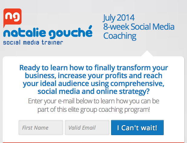 natalie gouche 8 week social media coaching