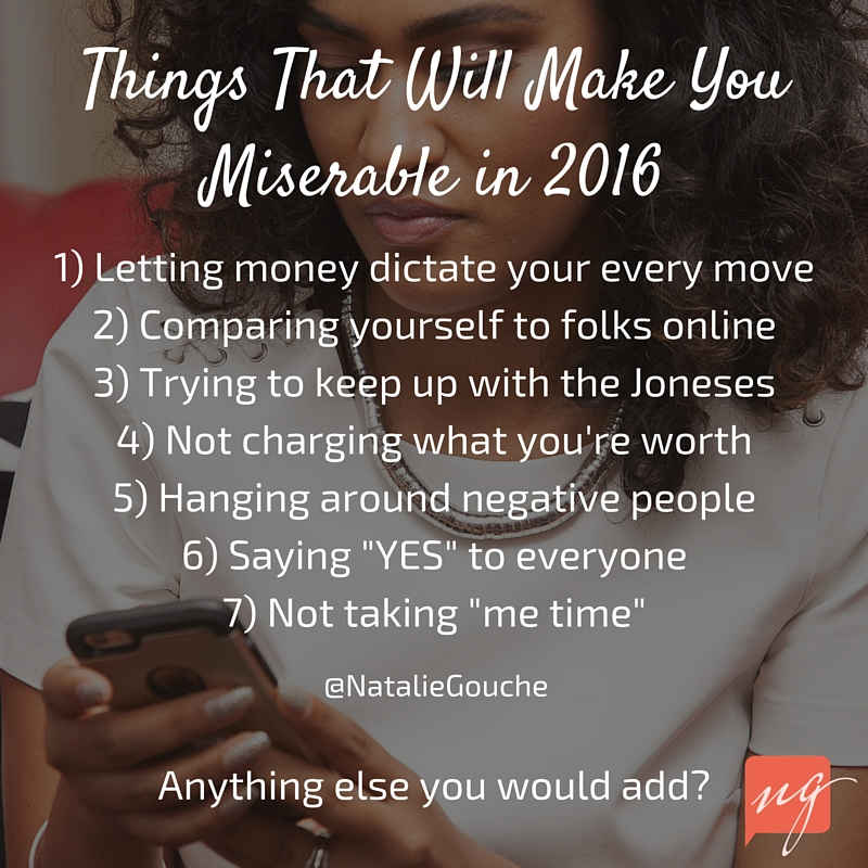 Things That Will Make You Miserable in 2016