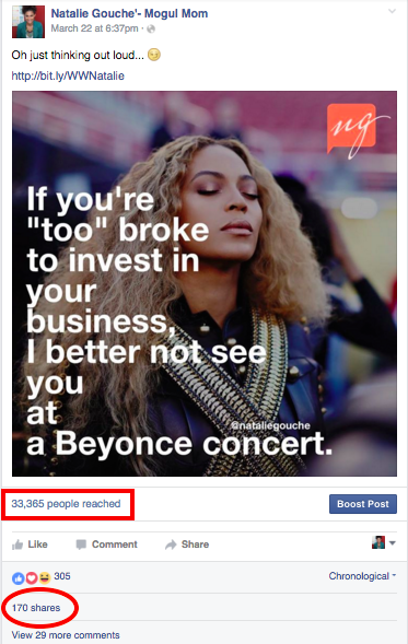 beyonce meme viral post from natalie gouche